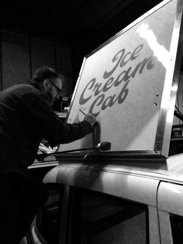 The Ice Cream Cab Signwriting by Nick Garrett 005