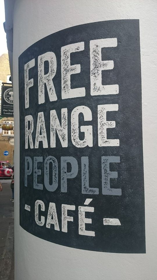 Free Range Covent Garden NGS sign writers