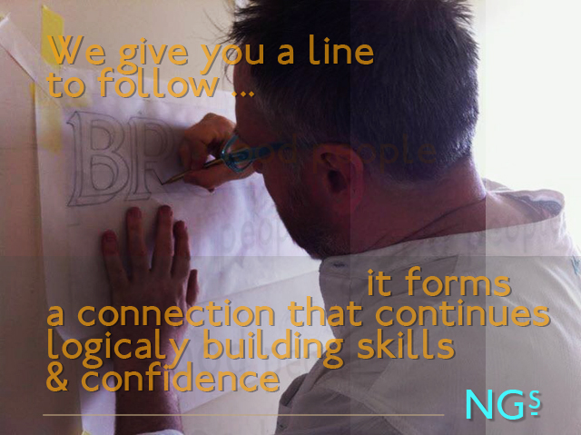 We give you a line to Follow NGS Signsmiths