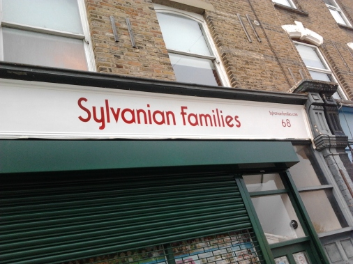 Sylvanian Families shop sign painting Nick garrett NGS London signwriters hand painted shop signs