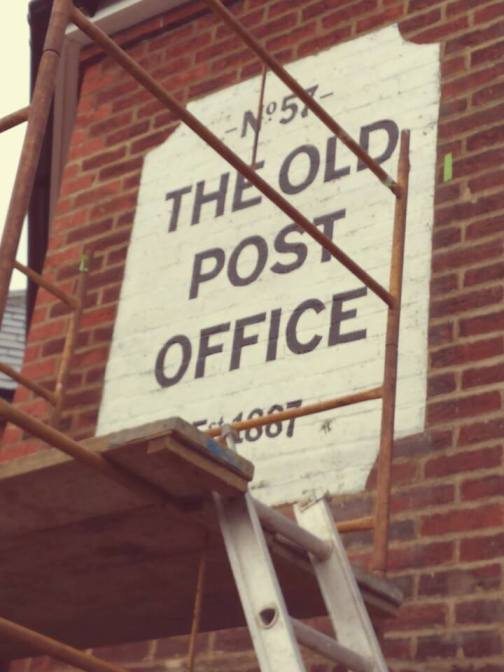 Old post office retro sign NGS