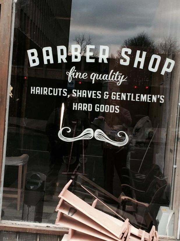 Signwriting Barber Shop by NGS London