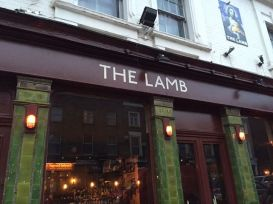 The Lamb NGS antique white signwritten pub London