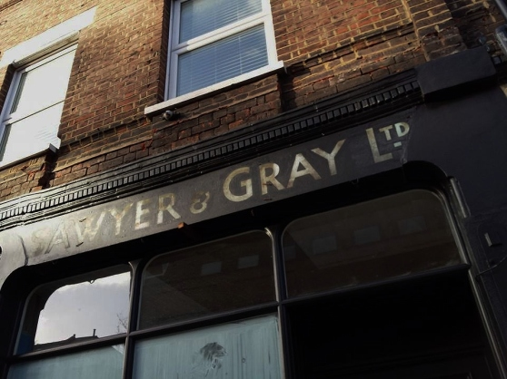Original Eric Gill signwriting? Under restoration by Nick Garrett NGS London