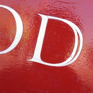 Lettering detail D Original Features Hornsey London NGS signwriters