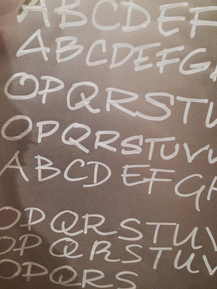 Chalk board writing